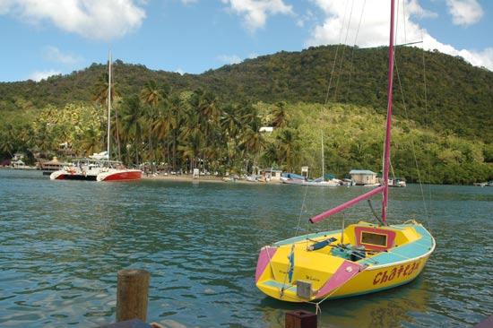 Mouillage Marigot Bay Sainte Lucie.