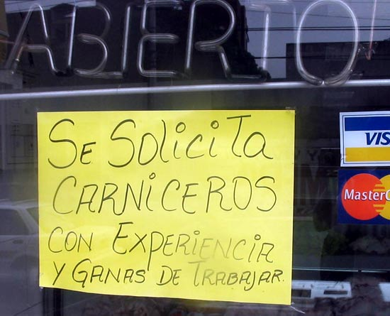 Margarita offre d'emploi.