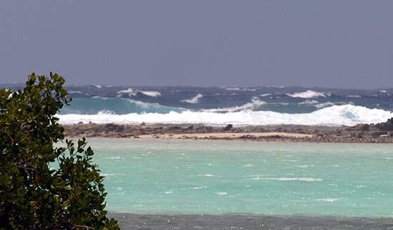 Mer dure sud des roques.