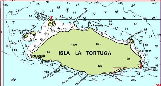Ile de la Tortuga Venezuela carte