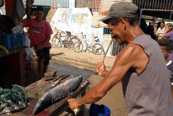 Découpe du poisson Vénézuéla Santa Fé.