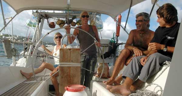 L'équipage de Ludmilla sur Amuitz
