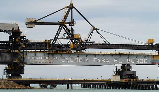 Les charbons de Colombie.