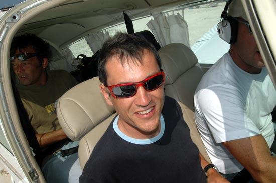 La Tortuga en avion privé.