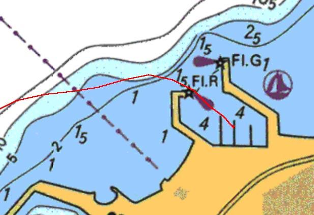 Carte entrée port Cumana Venezuela.