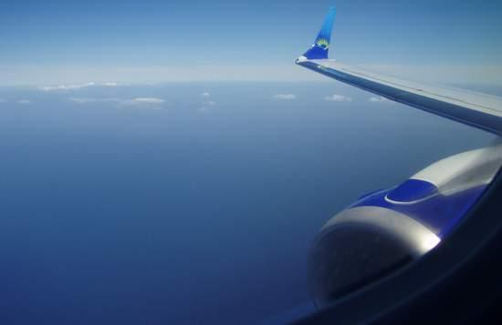 avion vers l'Europe.