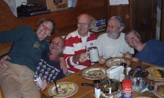 Repas avec nos amis Canadiens.
