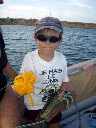 Marvin pêcheur.