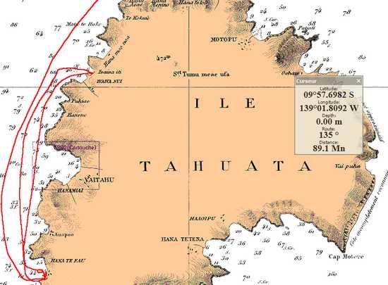 Marquises Tahuata carte