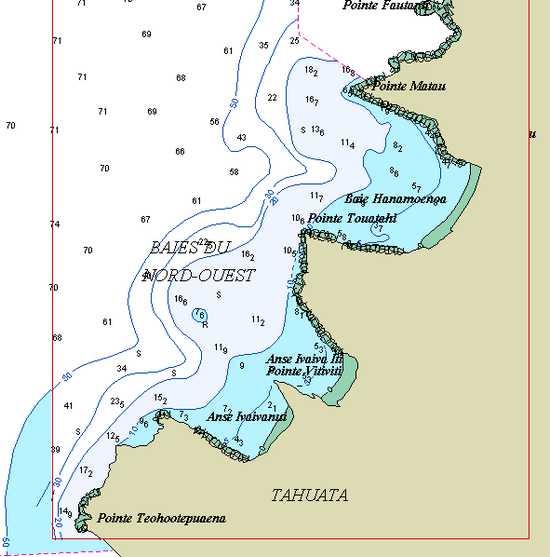 Marquises Tahuata carte détail
