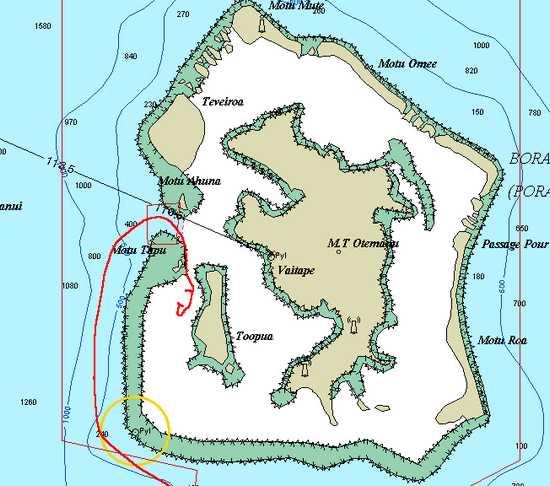 Carte Boira Bora avec trace entrée