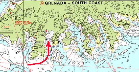 Carte sud grenade hartman bay