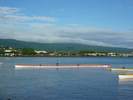 Pirogue des Samoa.