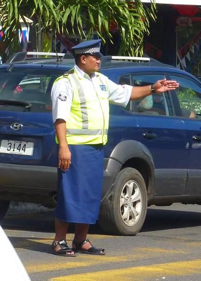 Policier des Samoa.