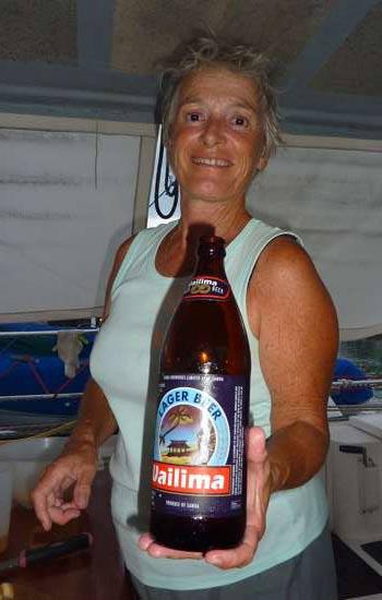 La bière locale...