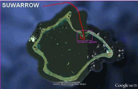Suwarrow Pacifique sud