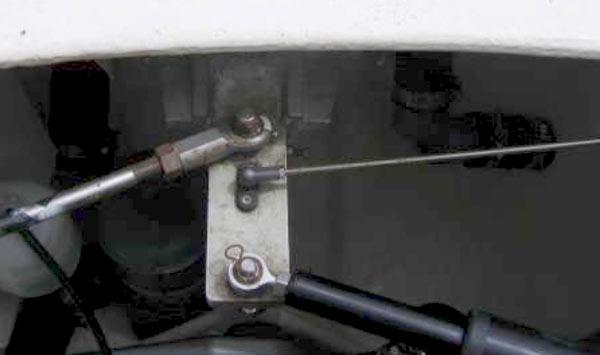 Secteur de barre pilote auto.