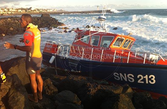Naufrage de la vedette SNSM à la Réunion.