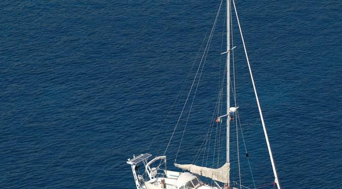 Traversée de l'Atlantique à la voile sur AMUITZ en 2005.