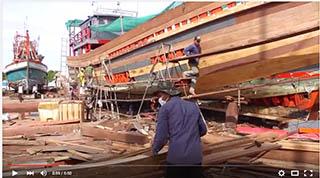 Chantier Pithak bateaux en bois